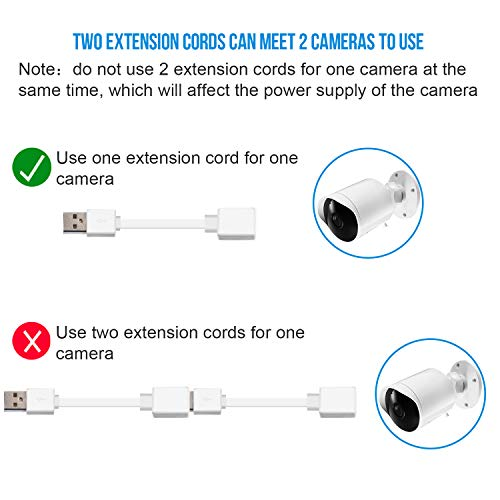 Frienda 10 Feet Power Extension Cable Compatible with YI Outdoor Security  Camera, Blink Cam, Wyze Cam, Nest Cam, Zmodo Cam, Cloud Cam, A-Male to