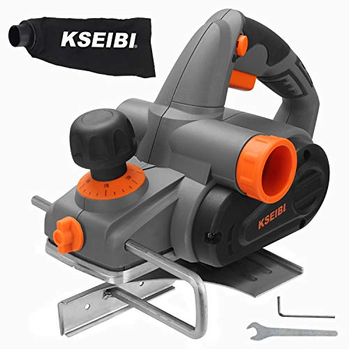 KSEIBI 6-Amp 3-1/4-Inch Electric Wood Planer 16500RPM, with 5/64 inch Adjustable Cut Depth, Left Right Hand Operation…
