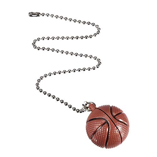 uxcell Basketball Pendant 12 inch Silver Tone Pull Chain for Lighting Fans (Basketball Appliance)