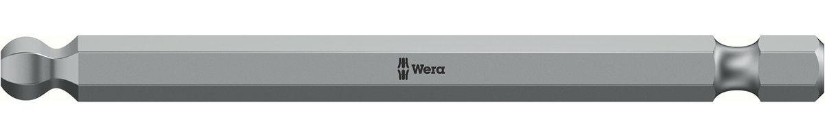 WERA 05380124001 3/32 x 89 mm 842/4 Bits with Ball Hex - Silver