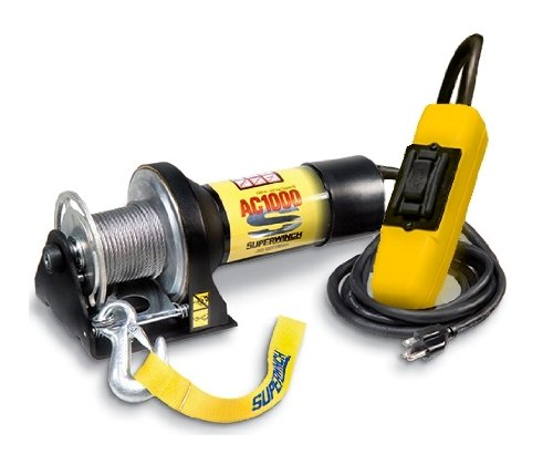 Superwinch 1401 AC 1000 115VAC winch. rated line pull of 1,000 lb/450 kg