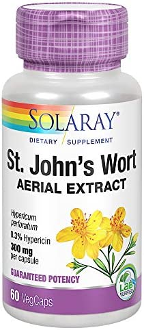 Solaray St John s Wort Aerial Ext 300 mg 60ct