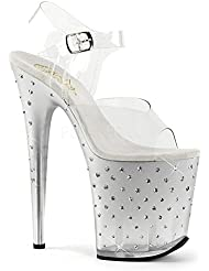 Pleaser STARDUST-808T Exotic Dancer Super High Heels 8 Hot Sexy Platform Sandal.