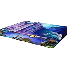 3D Coffee Table Mats Bedroom Carpet Baby Mats 80x120 CM-Ocean World