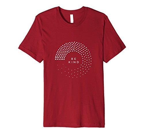 Mens Be Kind T-Shirt Medium Cranberry