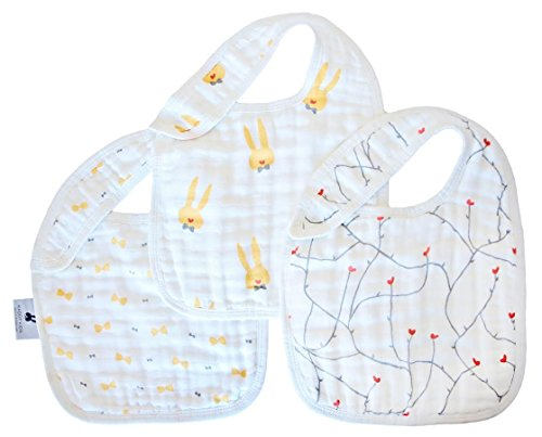 [Kadut Kids Baby Bibs, 3 Pack- 100% Softest Muslin Cotton Drooling, Teething & Feeding Bib with Adjustable Snap-Unisex Signature Collection- Super Absorbent, Soft, & Stylish Baby Shower & Registry Gift] (Baby Wearing Elephant Costume)