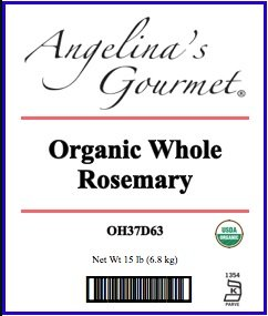 Organic Whole Rosemary, 15 Lb Bag