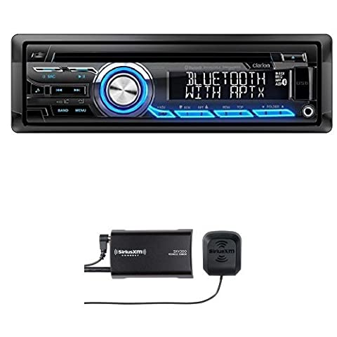 Clarion CZ305 Built-In Bluetooth with SiriusXM SXV300v1 Connect Vehicle Tuner Bundle (Clarion Android)