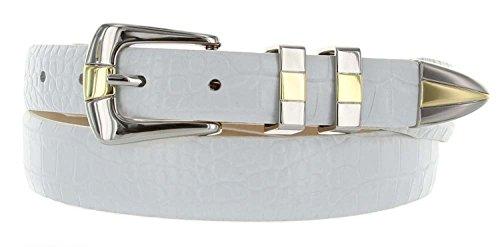 Alligator Genuine Belt (Alexander Men's Genuine Italian Calfskin Leather Golf Dress Belt (36, Alligator)