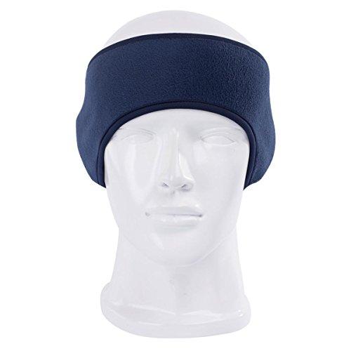 Toplor Ear Warmer Ski Headband - Ear Cover Head Wrap Moisture Wicking Sweatband Running Headwear Earmuffs (156-Deep Blue)
