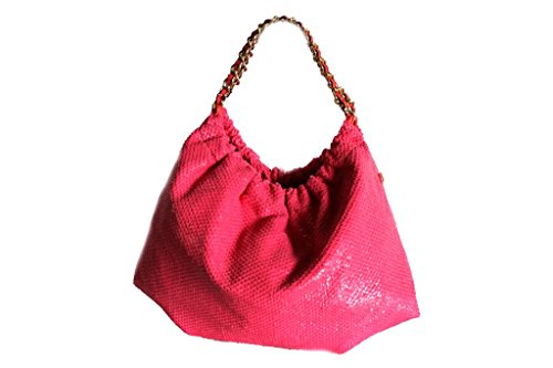 Borsa donna sacca a spalla lk.s.52350 fuxia moda italiana