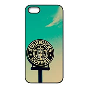 Starbucks Coffee Logo Blue Sky Lifestyle Unique Apple Iphone 5 5S Durable Hard Plastic Case Cover CustomDIY