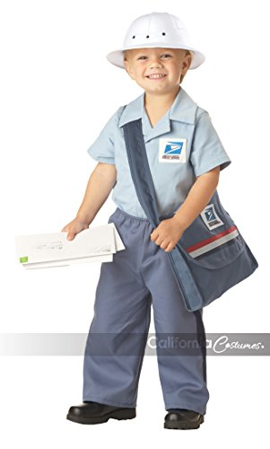 Mr. Postman Toddler Costume , Medium, One (Mailman Costume For Kids)