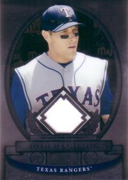 2008 Bowman Sterling Baseball - 2008 Bowman Sterling Baseball #BS-JH Josh Hamilton Game Worn Jersey Card