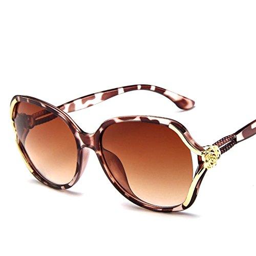 Limotai De De Unas Clásico Gafas Mujer De Sol Té Solaviador Enormes Leopard Gafas Uv400 té Mujer Gafas Sol Degradado qqpx5rB