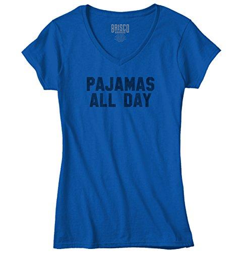 Pajamas Sayings Junior V Neck T Shirt product image