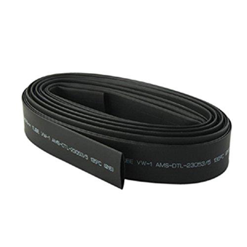 Welldoit Internal Diameter 50mm Length 2m Heat Shrink Tubing Cable Sleeving Wire Wrap Heat Shrinkable Tube Black (50mm)