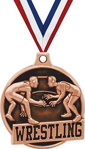 1.5インチ レスリングメダル - ブロンズレスリングチャレンジャー賞 メダル プライム B07GK1DXQ9  20