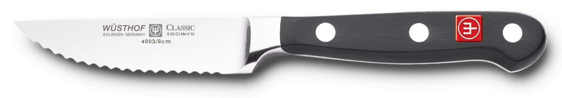 Wusthof 4003-7 CLASSIC Paring Knife, One Size, Black, Stainless Steel by Wüsthof