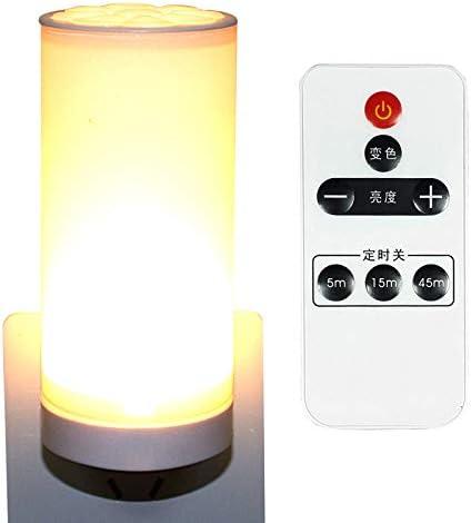 Lámpara LED con mando a distancia, pequeña luz nocturna, lámpara ...