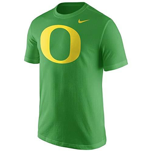 Nike Oregon Ducks Apple Green Cotton Logo T-Shirt (Small)