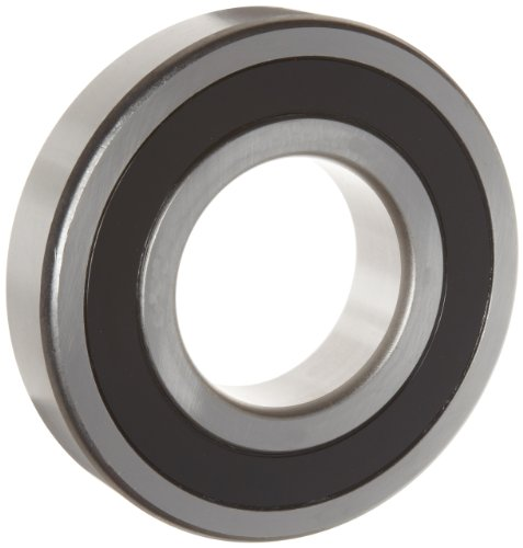 WJB 6306-20-2RS Deep Groove Ball Bearing, Double Sealed, Metric, 31.75mm ID, 72mm OD, 19mm Width, 6700lbf Dynamic Load Capacity, 3800lbf Static Load Capacity