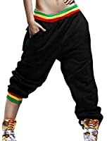Allegra K Women Elastic Waist w Pockets Hip Hop Casual Trousers