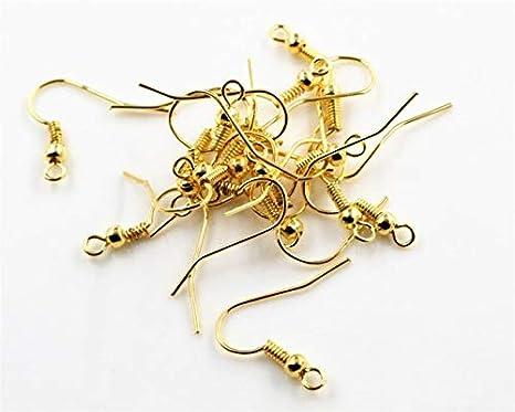Laliva 100pcs//lot 20x17mm DIY Earring Findings Earrings Clasps Hooks Fittings DIY Jewelry Making Accessories Iron Hook Earwire Jewelry Color: Bronze