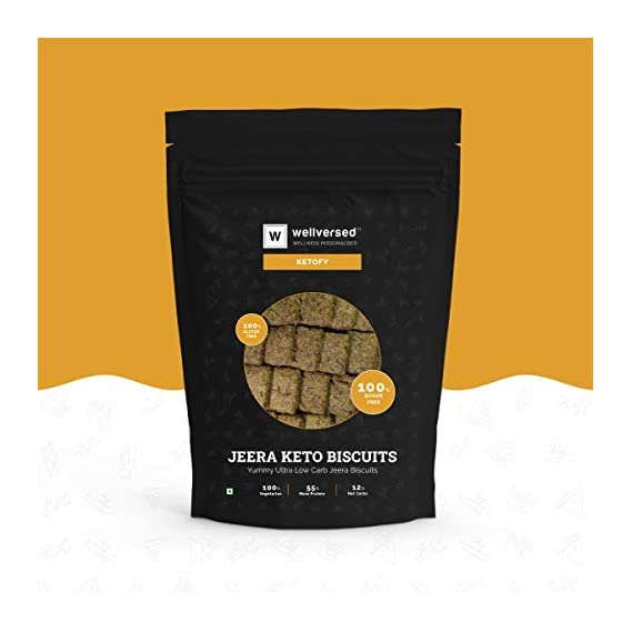 Ketofy - Jeera Keto Biscuit (250g) | Yummy and Nutritious Keto Biscuits