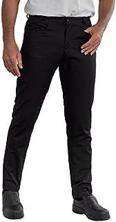 Isacco Pantalone Yale SLIM Nero, Nero, 42, 65% Poliestere 35% Cotone