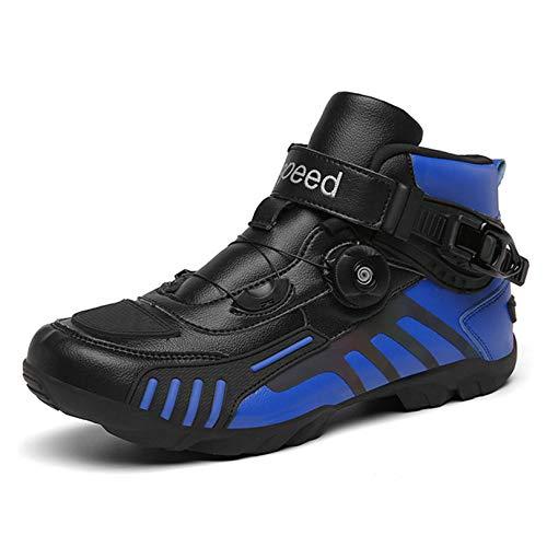 MRDEAR Motorrad Schuhe Sneaker Herren, Motorradschuhe Schwarz Blau mit Einstellknopf, Atmungsaktives Motorrad Stiefel…