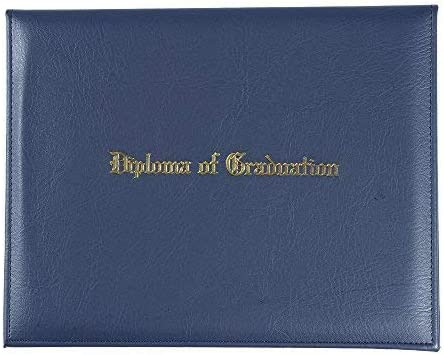 GraduationService PU Diploma Cover Certificate Cover with Gold ImprintedDiploma of Graduation 8 1//2 x 11
