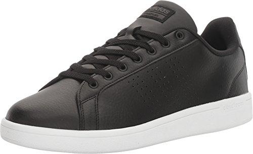 Adidas NEO Men's Cloudfoam Advantage Clean Sneaker, Black/Black/Dark Solid Grey, 9 Medium US
