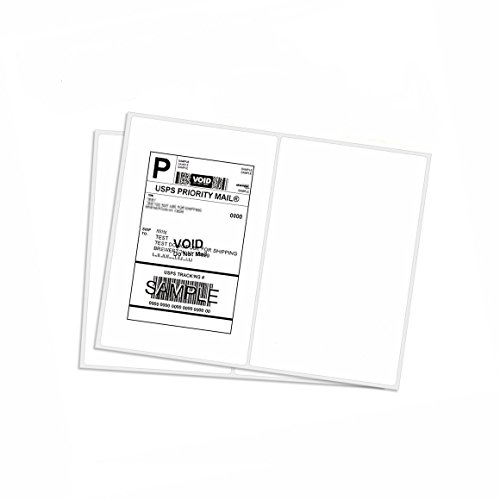 Half sheet self adhesive shipping labels, address labels, round corner, 8.5