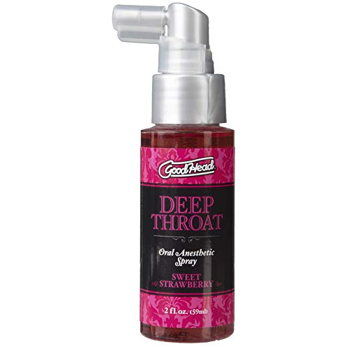 Doc Johnson GoodHead - Deep Throat Spray - Numbs Throat - Relaxes Gag Reflex - Sweet Strawberry - 2 fl. oz.(59 ml)