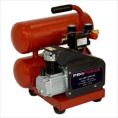 Pro Force VSF1080421 4-Gallon Oil Lube Air Compressor With E