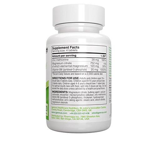 Neurobalance – Brain Function Supplement with Zinc Methionine, Magnesium & Vitamin B6 – Supports Mental Performance, Mood, Sleep & Hormone Balance, 120 tablets
