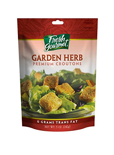 Fresh Gourmet Premium Croutons, Garden Herb, 5 Ounce (Pack of 6) ()