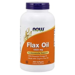 Now Supplements, Flax Oil 1,000 mg Made ...