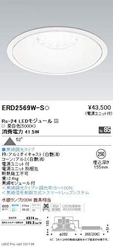 ENDO LEDリプレイスダウンライト 昼白色5000K 埋込穴φ250mm 無線調光 水銀ランプ200W相当 超広角 ERD2569WS(ランプ付) B07HQ7BZXN
