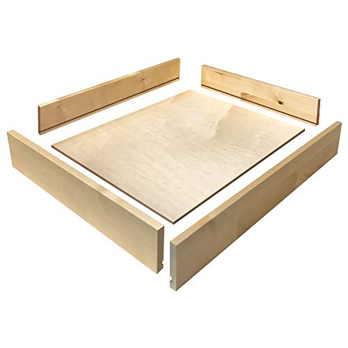 Drawer Box KIT, Unassembled, Birch Drawer Sides, 1/2'' Thick - Choose Your Size - by handyct
