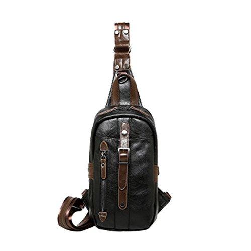 Ctooo Backpack For A Single Hormbro Messenger Bag Adjustable Shoulder Belt, Black Black