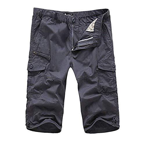 Uomo Fit Pant Cargo Pantaloni Pantaloncini Adelina Pantalone 4 Causali 3 Nero Estate Tool Grau Loose Abbigliamento qc354LjRSA