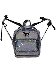 Victorias Secret PINK Mini Backpack Clear Sparkly Glitter Glow