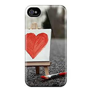 Waterdrop Snap-on Love Painting Case For Iphone 4/4s