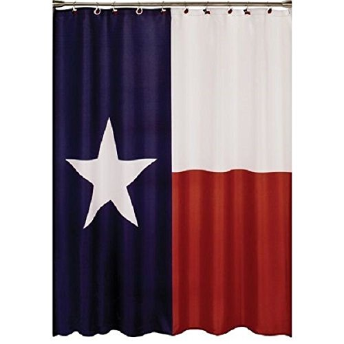 70'' x 72'' Texas Lone Star Flag Fabric Shower Curtain Hooks Included - 7032