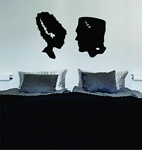 Frankenstein and Bride Silhouette Decal Sticker Vinyl Wall