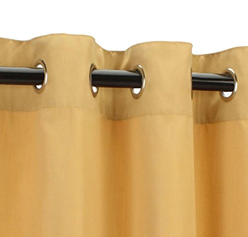 Sunbrella Outdoor Curtain-Nickle Grommets-Wheat