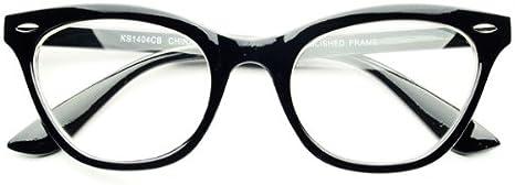 NEW vintage style black  cateye    Eye glasses clear lenses plastic frames