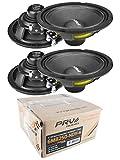 (4) PRV Audio 6MB250-NDY-4 6'' Neodymium Mid Bass Range Loud Speaker 4-ohm 1000W 2 Pair